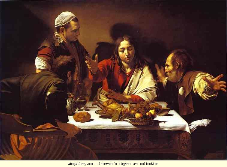 caravaggio witnesses at emmaus