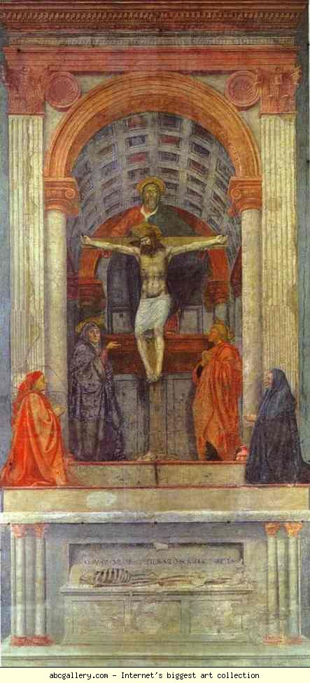Masaccio holy trinity with thw virgin
